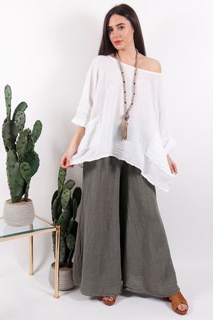 Pure & Simple Pocket Top White