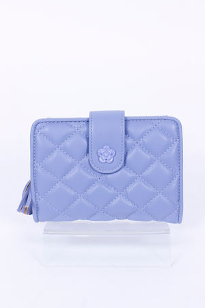 Quilted CoCo Fold Over Purse Bluebell