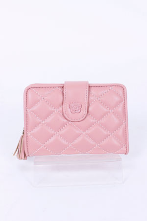Quilted CoCo Fold Over Purse Bubblegum