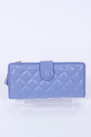 Quilted CoCo Large Purse Bluebell