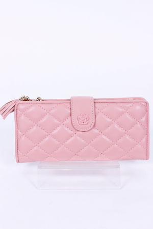 Quilted CoCo Large Purse Bubblegum