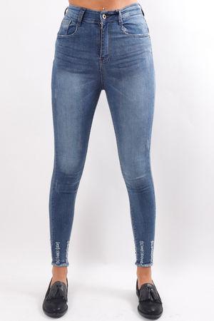 Raw Edge Denim Jeans