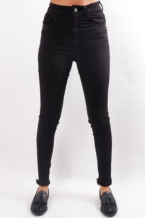 Raw Edge Jeans Black