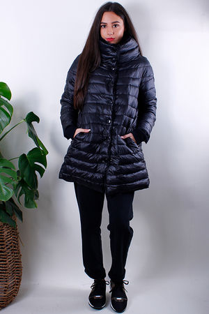 Reversible Cowl Puffer Black