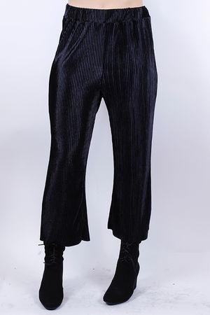 Ribbed Velvet Pants Black
