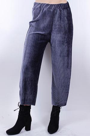 Ribbed Velvet Pants Pewter
