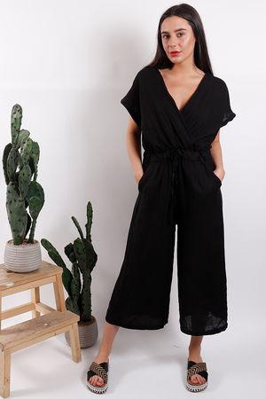 Rio Linen Jumpsuit Black