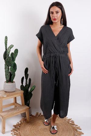 Rio Linen Jumpsuit Slate