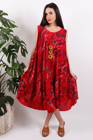 Rio Print Swing Dress Poppy