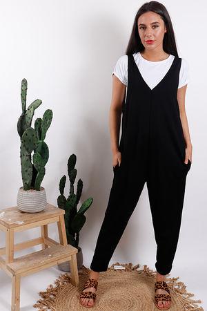 Rio T Shirt Jumpsuit Black