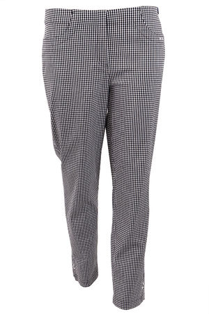 Robell Bella 09 Gingham Trouser Black