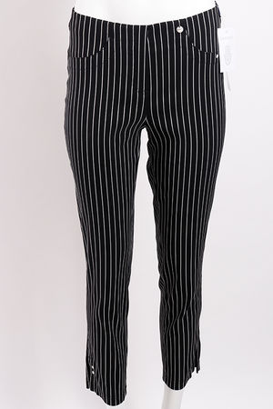 Robell Bella 09 Trousers Pin Stripe Black