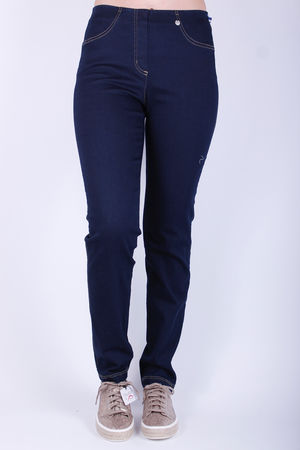 Robell Bella Pull On Jeans Dark Indigo
