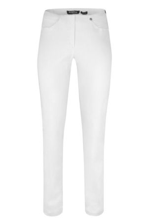 Robell Bella Pull On Jeans White