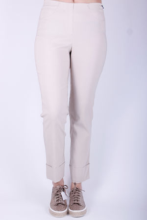 Robell Bella Turn Up Crop Beige
