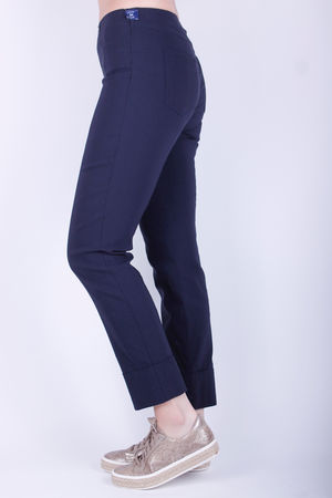 Robell Bella Turn Up Crop Navy