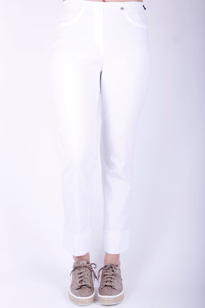 Robell Bella Turn Up Crop White
