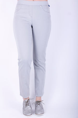 Robell Rose Elasticated Band Trousers Grey