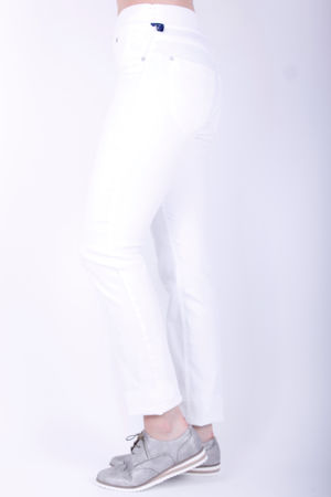Robell Rose Elasticated Band Trousers White