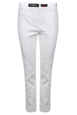 Robell Rose Embroidered Crops White