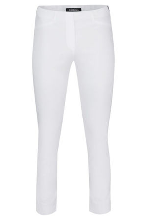 Robell Rose White 7/8 Trousers