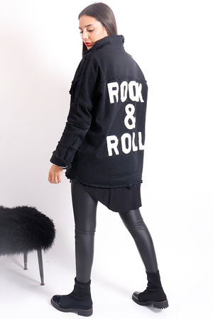 Rock & Roll Shirt Jacket Black