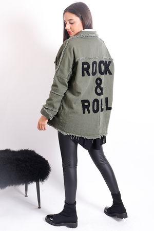Rock & Roll Shirt Jacket Khaki