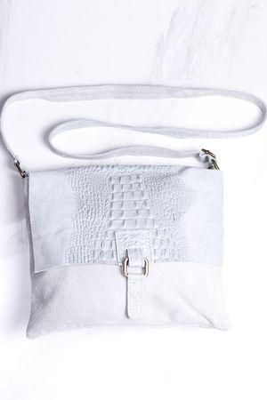 Rome Croc Messanger Bag Dove Grey