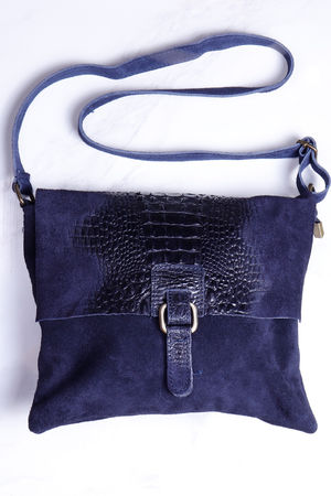 Rome Croc Messanger Bag Navy