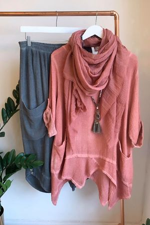 Sahara 4 Point Top Washed Terracotta