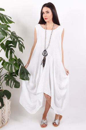 Sahara Dress White