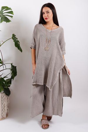 Sahara Oversized Spilt Side Top