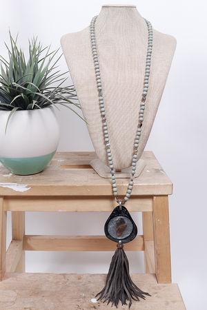 Sahara Resin Dongle Necklace