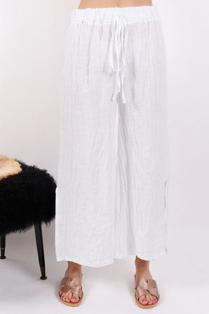 Sahara Split Side Pants White