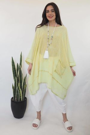 Sahara Super Light Oversized One Pocket Top Washed Lime