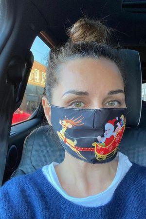 Santas Sleigh Mask