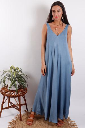 Santorini Maxi Dress Denim