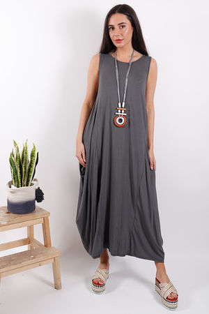 Savannah Basic Base Dress Slate