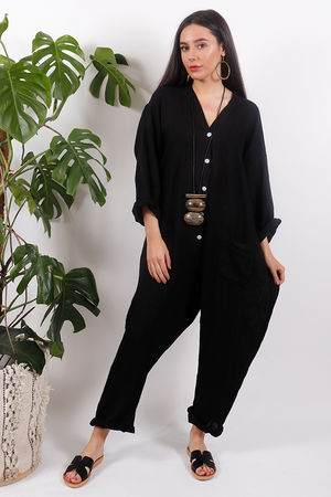 Savannah Boiler Suit Black