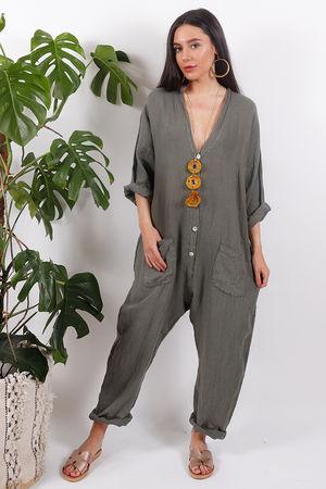 Savannah Boiler Suit Khaki