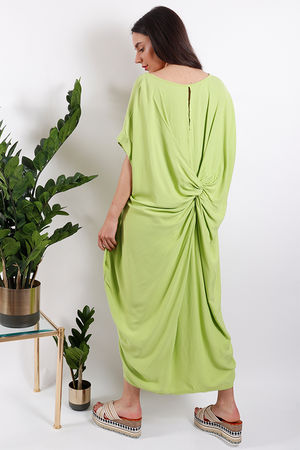 Savannah Knot Back Dress Lime