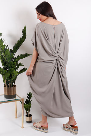 Savannah Knot Back Dress Stone