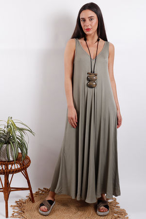 Savannah Maxi Dress Khaki