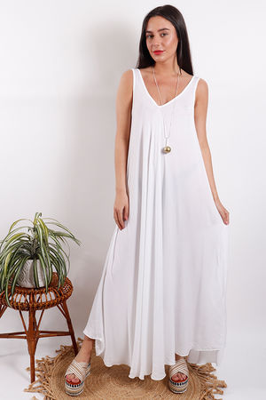 Savannah Maxi Dress White