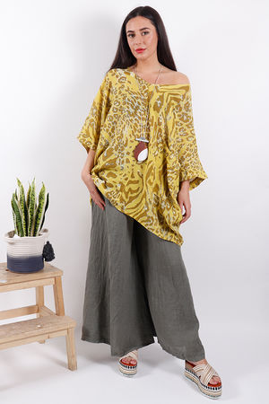 Savannah Oversized Animal Top Sulphur