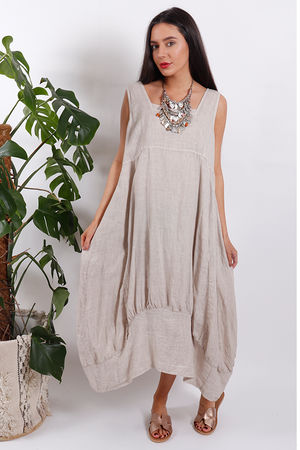 Savannah Sac Dress Summer Nude