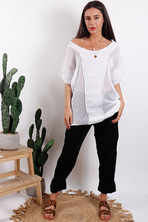Savannah T Bag Panel Top White