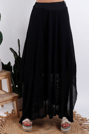 Savannah T Bag Skirt Black