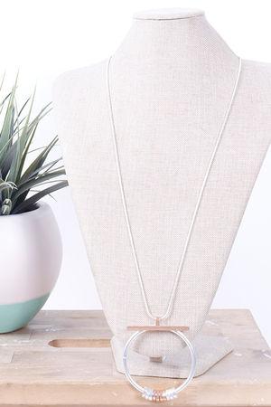Savannah T Bar Necklace