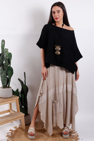 Savannah Textured Box Top Black